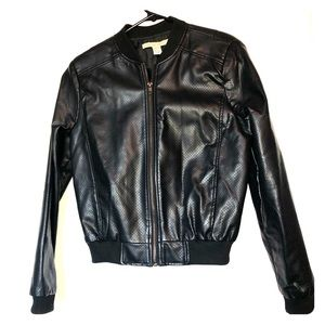 Love By Design Faux Leather Bomber Size L